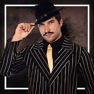 20-tal Gangster & Cabaret Maskeradkläder för Män