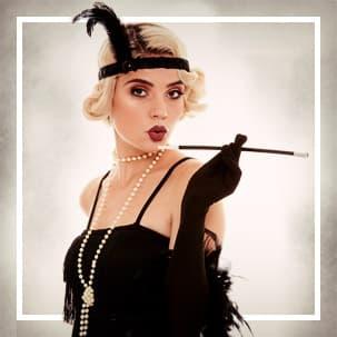 20-tal Gangster & Cabaret Maskeradkläder för damer