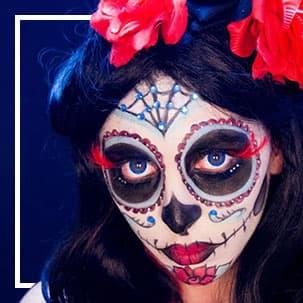 Maske i maske za oči Catrina & Dan mrtvih