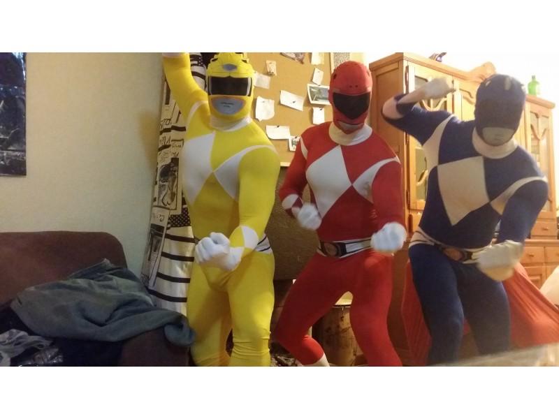 ad43e16d6117 Morphsuit Power Ranger gul kostume. Express levering